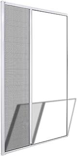 vidaXL Mosquitera Fija Puertas Abatibles Blanca 120x215cm