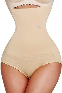 WENPINHUI Waist Trainer Butt Lifter Binder Tummy Body Shaper Modeling Strap Slimming Belt Corrective Underwear Shapewear Pulling Panties (Color : Beige Brief, Size : XXXL)