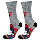 soxo Calcetines de Color para Hombre | Talla 40-45 | Calcetines largos de algodón de superman | Perfectos para Zapatos y Botas