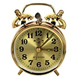 Ybqy Relojes de Alarma Mecánico de Oro Reloj Despertador Manual...