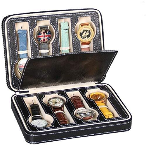 YIJIN Glasses Storage Box Grids Men Women Watch Jewellery Display Storage Box Case Leather Portable Watch Display Glasses