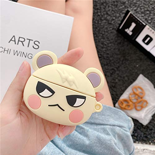 weichuang Headphone box protective cover Game Animal Crossing Squirrel Horizons 3D Marshal Earphone Case For AirPods Pro 1 2 3 Silicone Cute Cartoon Headset Cover Headphone box protective cover