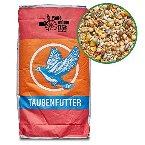 Paul´s Mühle Taubenfutter, Hochwertige Futtermischung zur Ganzjahresfütterung für Zucht- & Reisetauben, Classic, 25 kg