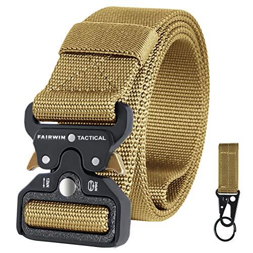 FAIRWIN Tactical Belts for Men, Work Belt Military Belt Nylon Web Belts for Men Heavy-Duty with Quick-Release Buckle