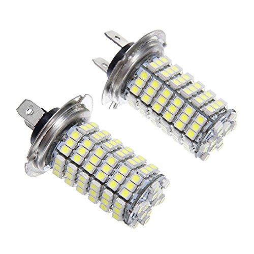 ZGMA H7 Automatique Ampoules électriques 6W SMD 3528 1200lm LED Feu Antibrouillard White