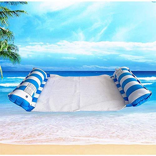 Boyas de Piscina para Adultos, 1 Boyas de Piscina portátiles, Equipadas con Bomba de Aire Manual Sala de hamacas de Agua Adecuada para Adultos o niños de Vacaciones y Descanso,Azul