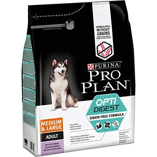 PURINA PRO PLAN Medium & Large Adult Hundefutter trocken mit OPTIDIGEST, reich an Truthahn, 1er Pack (1 x 2,5kg)