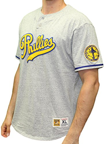 Mitchell & Ness Philadelphia Phillies MLB The Victory Short Sleeve Henley Shirt