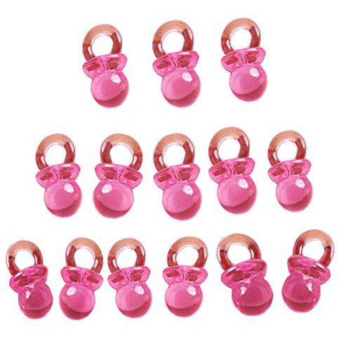 Beyond Dreams® 50 Schnuller für Babyparty Deko | Babyschnuller für Mädchen Baby | Taufe Einladungen Basteln Tischdeko | Anhänger Dekoration | Babyshower Mitgebsel Mitbringsel Geschenke Kinderparty