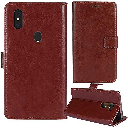 Lankashi Premium Retro Business Flip Book Stand Brieftasche Leder Tasche Schütz Hülle Handy Handy Hülle Für Gigaset GS290 6.3