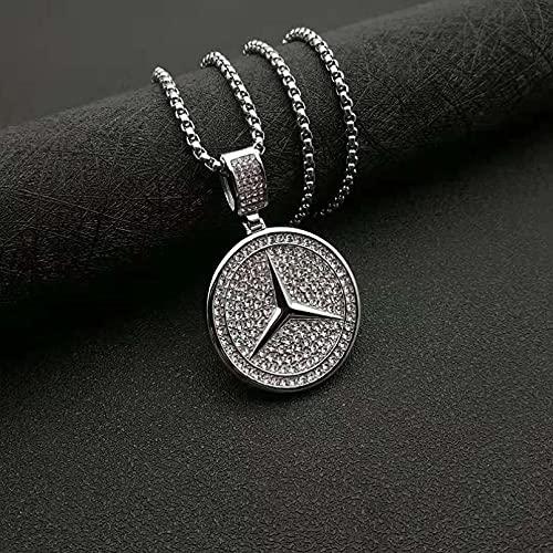 N/A Halskette Europäische und amerikanische Hip-Hop-Nachtclub-Edelstahlkette mit Dreieck Geschenk für Frauen Valentinstag Halskette