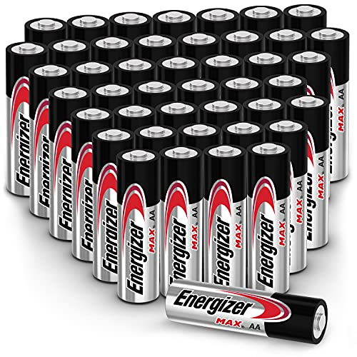 Energizer MAX AA Batteries Combo Pack (44 Count), Double A Alkaline Batteries