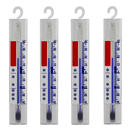 Lantelme nevera termómetro conjunto de 4 congelador, vino nevera termómetro cocina refrigeración 4884