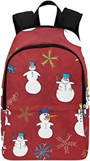 Christmas s Casual Daypack Travel Bag College School Backpack for Mens and Women
