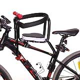 LLIIAYUK Asiento de Bicicleta para niños de Montaje Frontal, Soporte para cojín de Silla Trasera para Bicicleta eléctrica para niños, Respaldo para apoyabrazos y Almohadilla para el pie-A