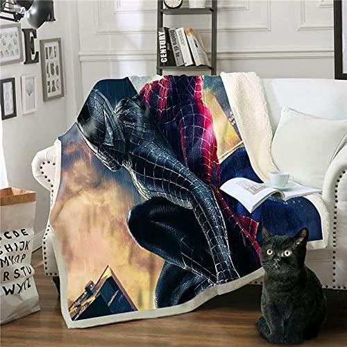 Spiderman Fleece Decke Ultra Soft Cosy Warm Throw Leichte Decke Microfleece Decke für Zuhause