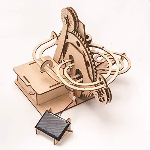 weichuang Modelo de madera DIY 3D de Madera Puzzle Posavasos Modelo de la Asamblea Kits de Construcción de Juguetes Gota Solar pista Envío para Niños Adultos Regalo Rompecabezas de Madera