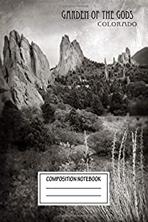 Composition Notebook: Landscapes Garden Of The Gods In Colorado Travel Wide Ruled Note Book, Diary, Planner, Journal for Writing