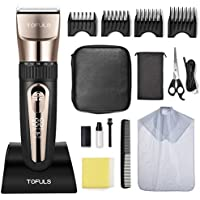 Tofuls Professional Cordless Rechargeable Men's Hair Clippers