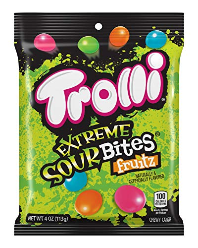 Trolli Extreme Sour Bites Gummy Candy, 4 Ounce, Pack of 12