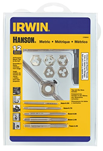 IRWIN Tap And Die Set, Metric, 3MM-7MM, 12-Piece (1765541)