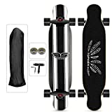 Longboard Skate Acero Skateboard 106×23.5cm tavola Completa, Cuscinetti Sfera ABEC-11 High Speed, 9...
