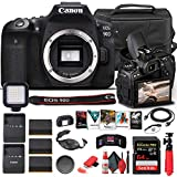 Canon EOS 90D DSLR Camera (Body Only) (3616C002) + 64GB Memory Card + Case + Corel Photo Software + 2 x LPE6 Battery + External Charger + Card Reader + LED Light + HDMI Cable + More (Renewed)