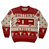 Christmas Vacation Shitter's Full Ugly Christmas Sweater Red (Medium)