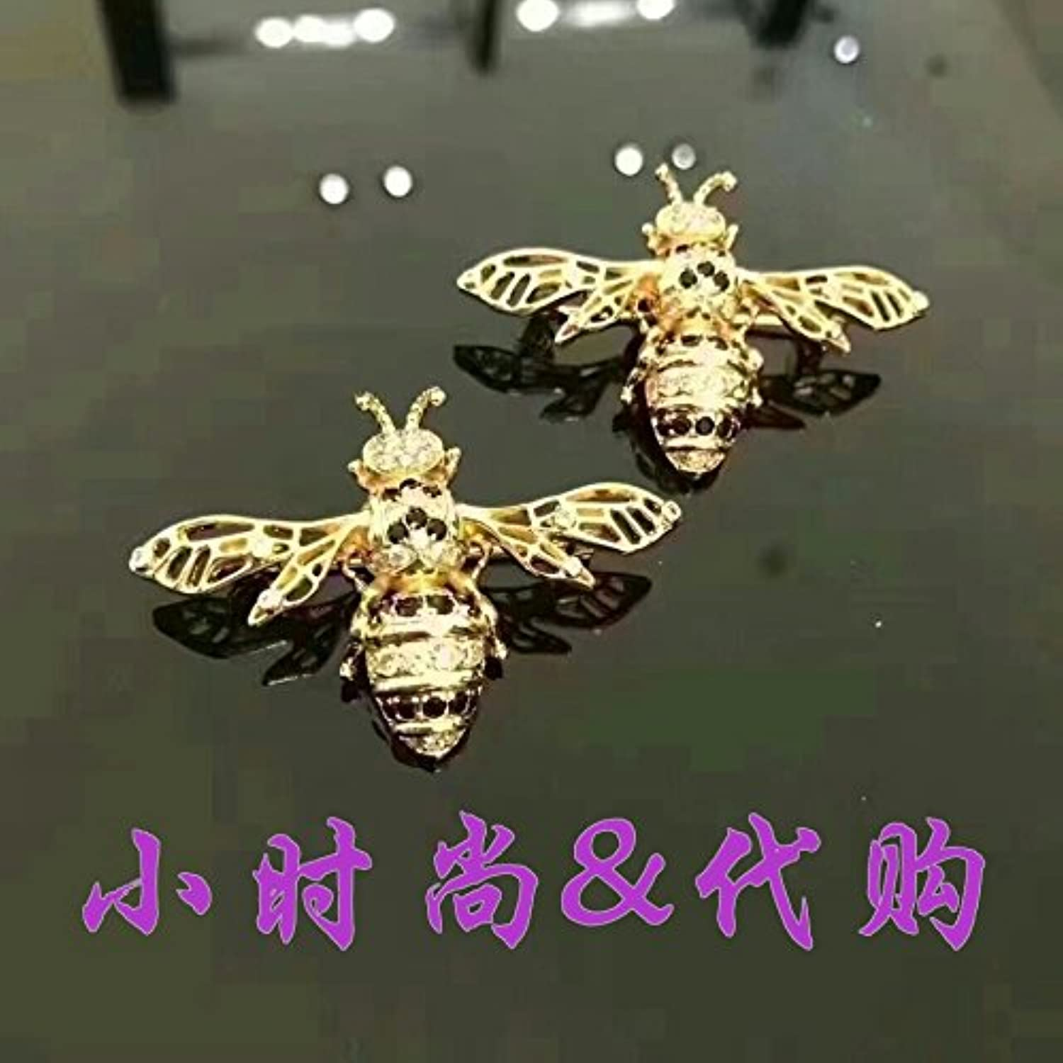 New Shopping Malls Counter 2018 Spring Small bee Brooch pin Badge Women Girls 5900015902451011