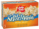 JOLLY TIME KettleMania Microwave Popcorn, One Box