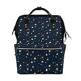 Alinlo Wickeltasche mit großem Fassungsvermögen, bunte Sterne, multifunktionale Kinderwagen-Gurte, Mumien-Tasche, für Reisen und Babypflege