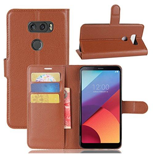 NEKOYA LG V30 Hülle,LG V30 Lederhülle, Handyhülle im Brieftasche-Stil für LG V30.Schutzhülle mit [TPU Innenschale] [Standfunktion] [Kartenfach] [Magnetverschluss]