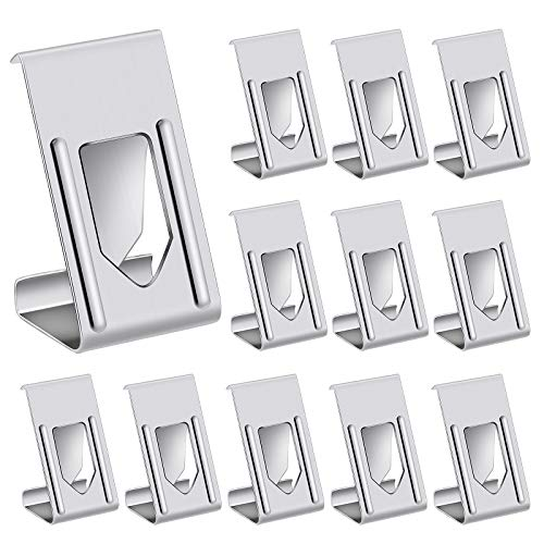 Meetory 100 Pcs Picture Photo Frame Metal Spring Turn Clip Hanger 3D Printer Glass Bed Clips for Frame, 3D Printer Bed, Silver Color