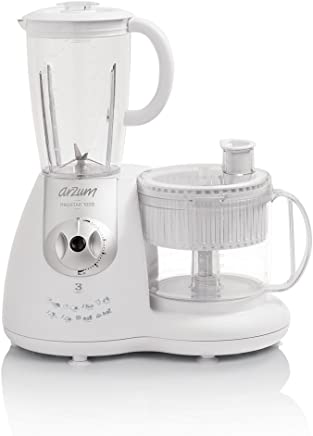Arzum AR1044 Mutfak Robotu, 1000 W, 1 L, Çelik Plastik, Gri