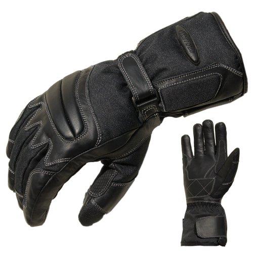 PROANTI Motorradhandschuhe Regen Winter Motorrad Handschuhe Herren Damen (L)