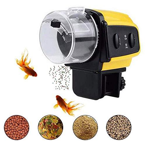 CAISYE Automatische Fischfütterung Feuchtigkeitsbeständig Urlaubstimer Fischfutter-Spender Tragbarer Futterautomat für Fischfutter für Aquarium oder Aquarium