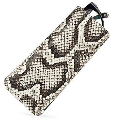 Marcel robert – Funda de piel con tapa para gafas simple y diario, modelo patentado – Fabricada con piel auténtica de P – [Natural]