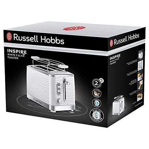 Russell Hobbs 24370-56 Toaster Grille Pain XL Inspire, Contrôle Brunissage, Décongéle, Réchauffe, Chauffe Viennoiserie - Blanc