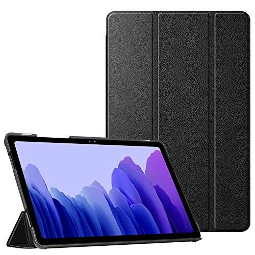 Fintie Hülle für Samsung Galaxy Tab A7 10,4 2020 - Ultra Schlank Kunstleder Schutzhülle Cover mit Auto Schlaf/Wach Funktion für Samsung Galaxy Tab A7 10.4 SM-T500/505/507 Tablet, Schwarz