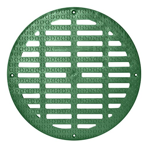 Storm Drain FSD-3017-G20B 20-in. Round Flat Green Grate for Catch Basin