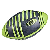 NERF Weather Blitz Foam Football for All-Weather Play -- Easy-to-Hold Grips – Great for Indoor and Outdoor Games -- Green