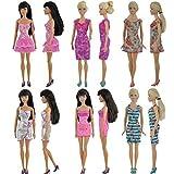 E-TING 5 x moda Mini vestido para muñeca Barbie hecha a mano...