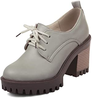 BalaMasa Womens APL12314 Pu Platform Heels