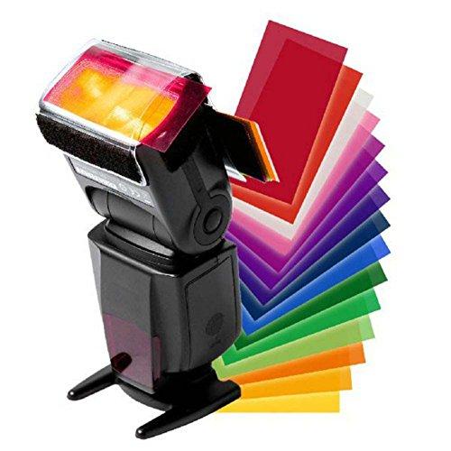vhbw Universal Blitz-Farbfolien 12Stück inkl. Befestigung passend für Blitzgerät Nikon Speedlight SB-900, SB-910, SB-N7, SB-R200