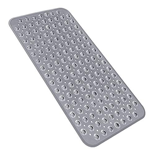Yolife TPR Badewannenmatte mit rutschfesten Badematten und Duschmatte für maschinenwaschbare Badezimmer 39 * 71 cm (Grau)