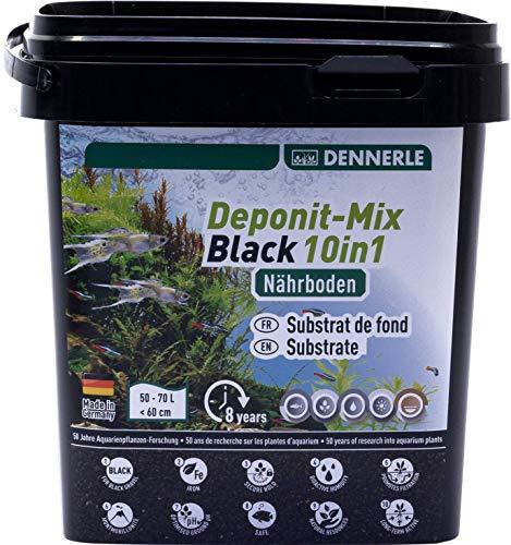 Dennerle Deponit-Mix Black 10in1-2,4 kg Multimineral-Nährboden für Aquarien von 50-70 Liter
