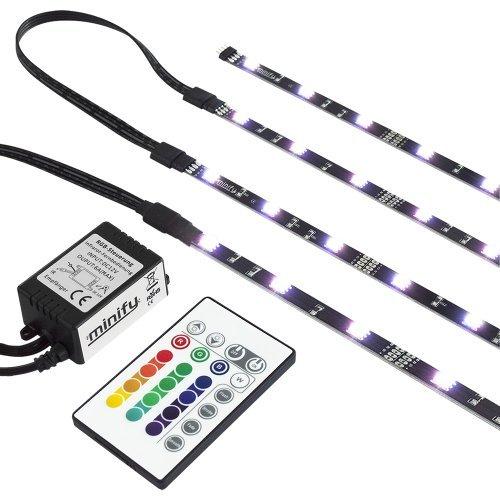 RGB TV HINTERGRUNDBELEUCHTUNG FÜR 24-42 ZOLL (61-107cm) | LED LEISTEN | STRIP Set Band Leiste | KOMPLETTSET INKL…