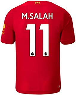 New Soccer Liverpool Home 2019/2020 11 M.Salah Mens Soccer Jerseys Red