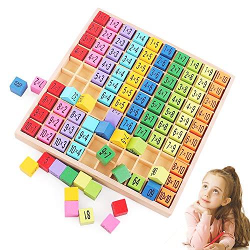 Sunshine smile Holz Mathematik Spielzeug,Holz Multiplikationstabelle,Mathematik Spiele,Holz Multiplikationstabelle,Lernspielzeug Geschenk Kinder,Mathematik Spiel Kinder,Mathematik Spiele