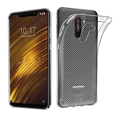 Kit 1 Capa E 2 Películas De Vidro Temperado Para Xiaomi Pocophone F1 - Capa Tpu Ultra Fina Flexível